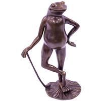Bronze Figurine - Frog with Cane