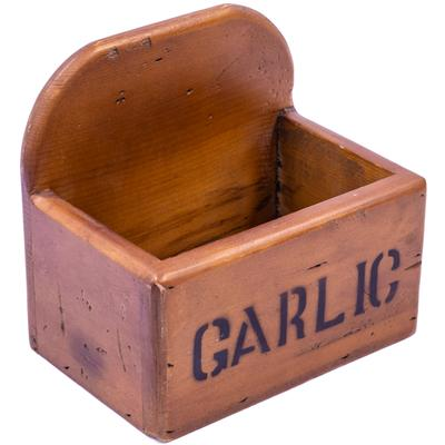 Rustic Timber Storage Box - Garlic