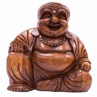 Hand Carved Smiling Buddha