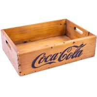 Rustic Timber Storage Box/Tray - Coca Cola