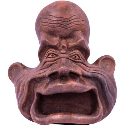 Wall Mounted Ornamental Pottery Face - Big Mouth
