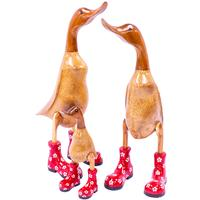 Timber Ducks in Red Boots