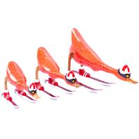 Painted Red Timber Ducks on Skis