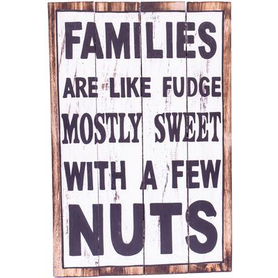 Wall Art - Timber Sign - Families are Like Fudge