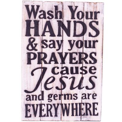 Wall Art - Timber Sign - Wash Your Hands