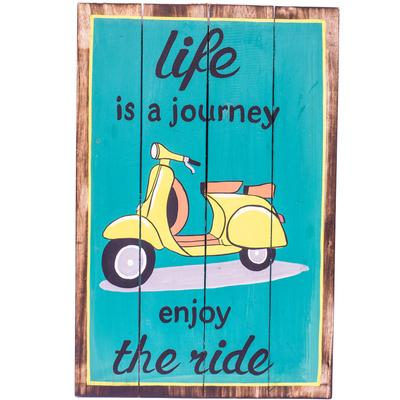 Wall Art - Timber Sign - Life is a Journey