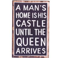 Wall Art - Timber Sign - A Mans Home