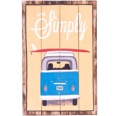 Wall Art Timber Sign - Live Simply