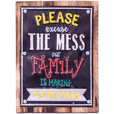 Wall Art Timber & Metal Sign - Excuse the Mess