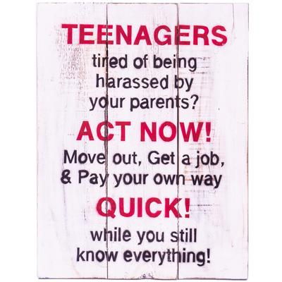 Wall Art Timber Sign - Teenagers