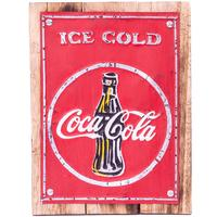 Wall Art Timber & Metal Sign - Coca Cola