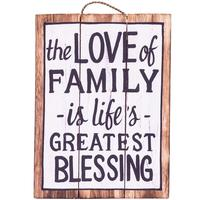 Wall Art Timber Sign - The Love of Family