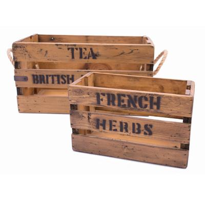 French Style Storage Boxes and Crates