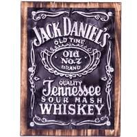 Wall Art Timber & Metal Sign - Jack Daniels