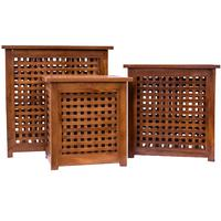 Slatted Teak Laundry Baskets