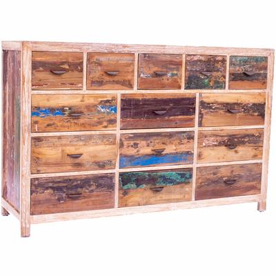 Distressed Boat Wood Storage Unit