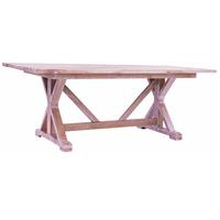 Whitewash Cross-Leg Dining Table