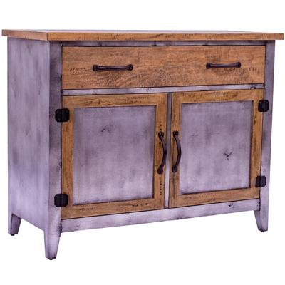Antique Iron & Timber Sideboard - 2dr x 2dw
