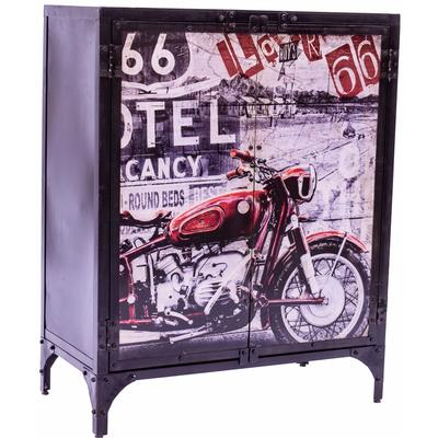 Industrial Steel Cupboard - Motorbike Themed