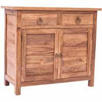 Natural Teak 4 Door x 4 Drawer Sideboard