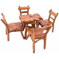 Primitive Timber Kids Table and Chairs