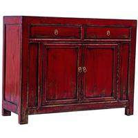 Red Far East Sideboard Unit