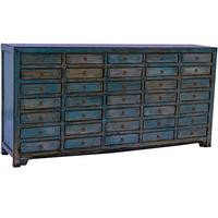 Multi-Drawer Unit - Distressed Sapphire Blue
