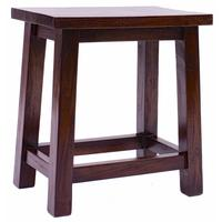 Rustic Teak Rectangular Top Stool