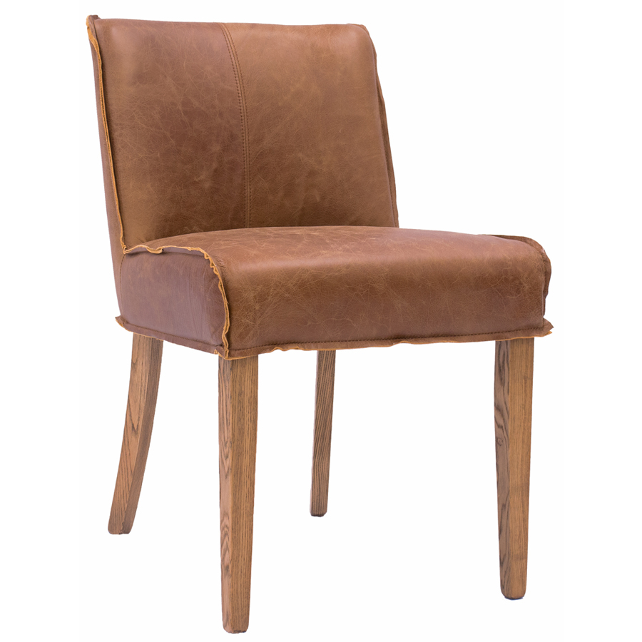Java The Stylish Loft Leather Dining Chair Featuring An