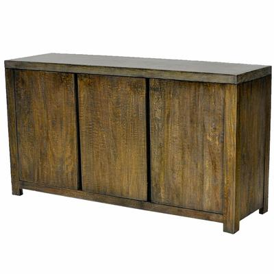 Gun Metal Stone Composite Top - 3 Door Sideboard