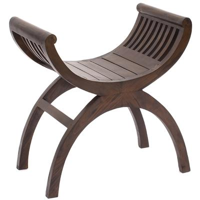 Slatted, Single Seat, Kartini Stool, Teak