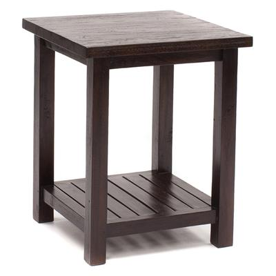 Rustic Teak Square Side Table - 50cm x 50cm x 60cm