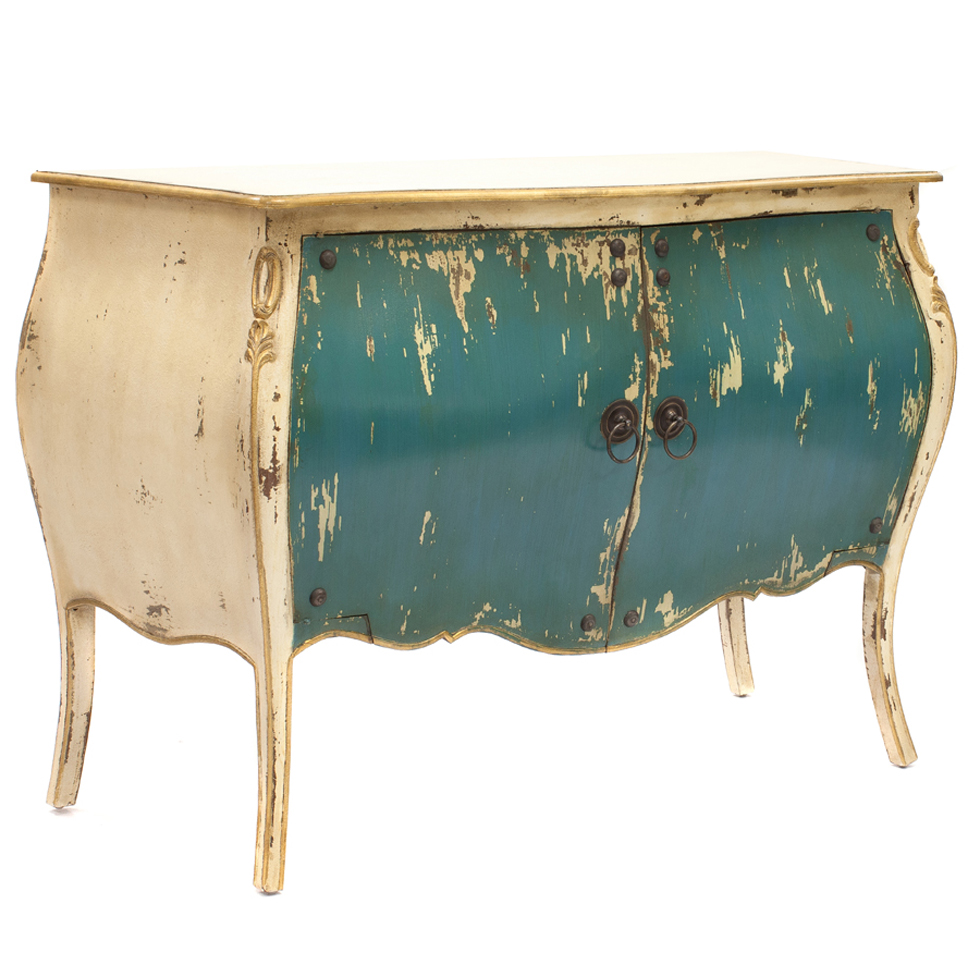 Java Introduce Flair And Personality To A Room With This Distressed Teal Blue Bombay Cabinet