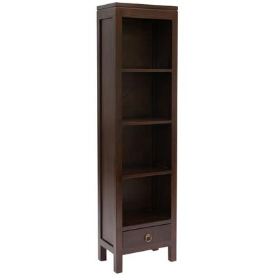 Narrow Bookcase - Contemporary Style in Mahogany