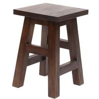 Square Top Stool - Rustic Teak