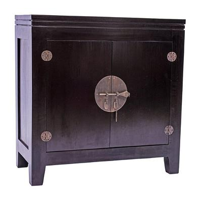 Black Lacquer Oriental Sideboard