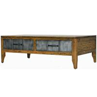 Tinman 2 Drawer Industrial Coffee Table