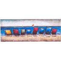 3D Metal Wall Art - Deck Chairs
