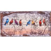 3D Metal Wall Art - Birds on a Wire