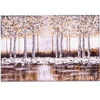 Brushed Aluminium Wall Art - Winter