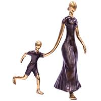 Bronze Figurine - Mother and Son