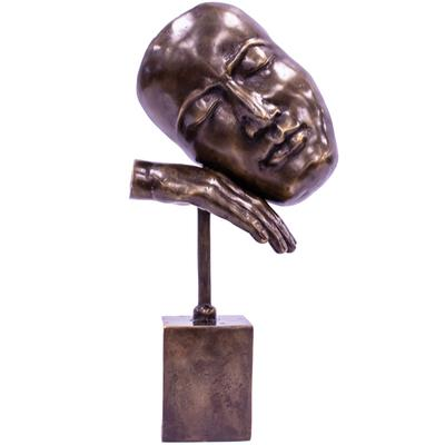 Bronze Figurine - Resting Head