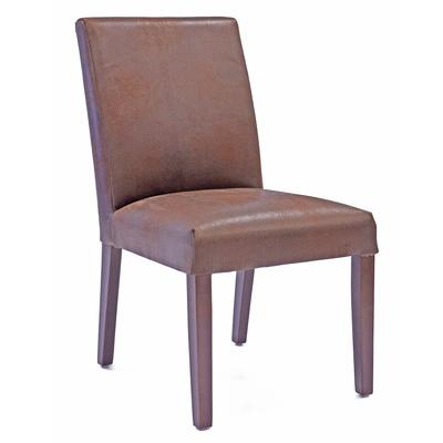 Medina Brushed Leather Dining Chair - Brown