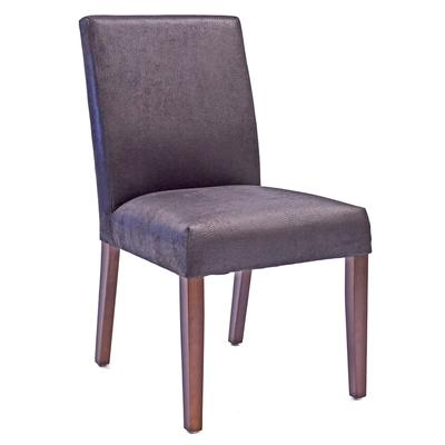 Medina Brushed Leather Dining Chair - Black